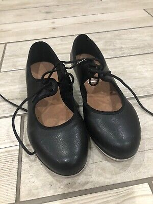 Girls Bloch Black Tap Shoes Size 3 With Heel And Toe Taps