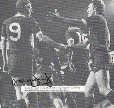 HAND SIGNED 1980s VINTAGE CUTTING LIVERPOOL - DAVID FAIRCLOUGH