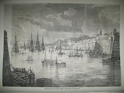 Malta Squadron English Ships Horses Prince Gortschakoff Russia Leaping 1861