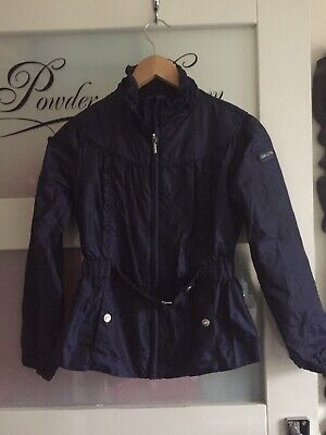 Fab  New Blue Showerproof coat/jacket By Geox With Mesh Lining Size 10 Years