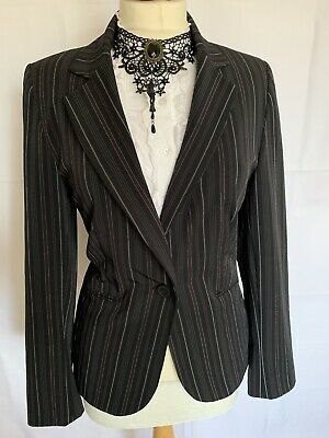 BAY 12/14/16 Black Striped Blazer Jacket STEAMPUNK SPIN DOCTOR CAREER OFFICE