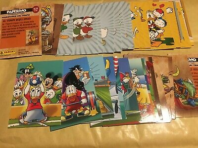 FULL SET of Donald Duck Sticker Story Paperino ITALIAN CARDS Panini ALL 36 CARDS
