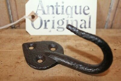 Antique Original~Wrought Iron Beam Hook~Hand Forged~Blacksmith Made~Decorative~