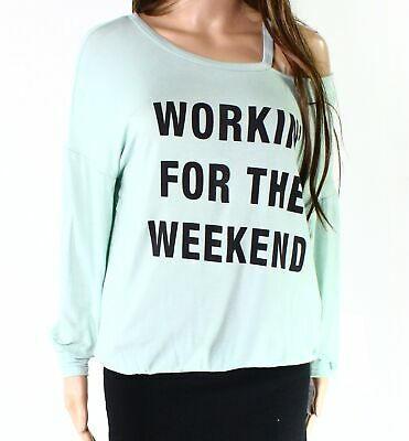 Moa Moa Womens Green Size Small S Workin For The Weekend Knit Top $36 935
