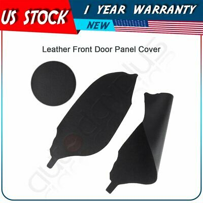 for Honda Accord Coupe 2008-2012 Front Door Panels Armrest Cover Leather Black