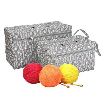 Yarn Storage Bag Canvas Organizer with Divider Crocheting Knitting Organization