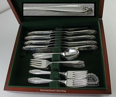 Antique $1600 MSRP 1939 Prelude STERLING Silverware Set 32 pc Service for 8