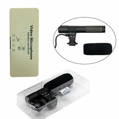 3.5mm Recording Microphone Interview Mic for DSLR Camera Video DV Camcorder