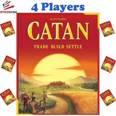 Settlers of Catan Board Game Party Gift Toy 5th Edition 4 Player Free Shipping