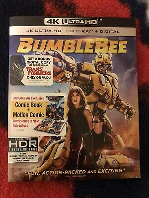Transformers: BumbleBee 4K (Ultra HD / Blu-ray / Digital) + Slipcover / Comic