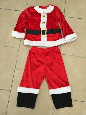 Christmas Outfits Boys Age 18-24 Months Santa Costume & Pyjamas BARGAIN BUNDLE