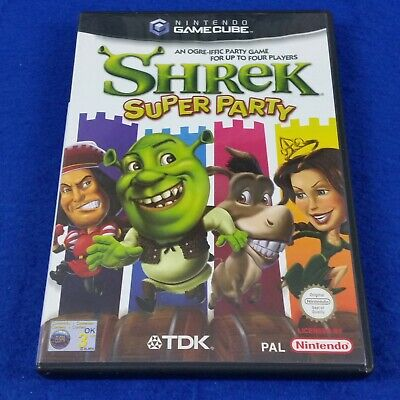 gamecube SHREK SUPER PARTY Great Multiplayer Game Nintendo PAL UK Version