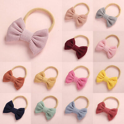 Baby Bows Headband Super Soft Corduroy Hairband Ropes Newborn Hair Accessories
