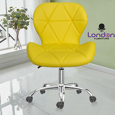 Swivel PU Leather Cushioned Chair Computer Office Desk Studio Salon Barber