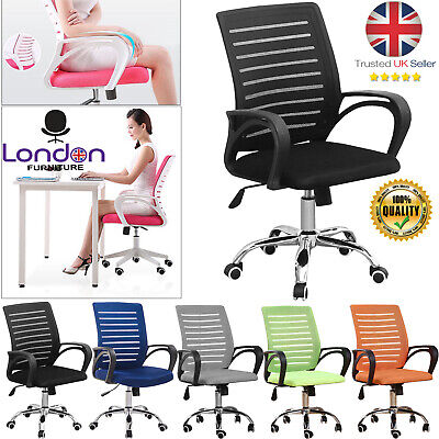 New Office Mesh Chair Adjustable Executive Swivel Computer PC Desk Seat Fabric