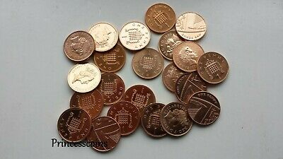 Selection Of 1982 To 2014 Uncirculated Gb English 1P One Penny Coin Collections