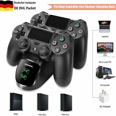 Dual Charger Ladestation für PlayStation PS4/PS4 Slim/PS4 Pro Controller Mit LED