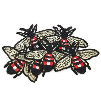 6 Pcs Bee Shape Embroidery Patches Sewing Decoration Patch DIY Clothes Applique