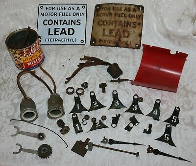 Lot of Antique Clock Face Visible Gas Pump Parts ONE LOT
