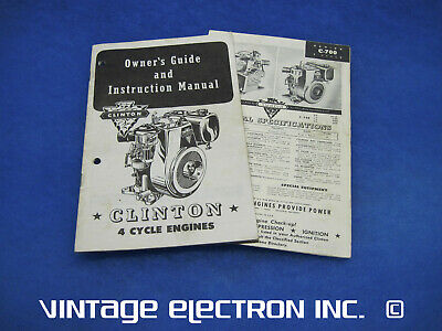 1954/55 CLINTON 4-Cycle Engines Owner's Guide and Instruction Manual (C-700 etc)