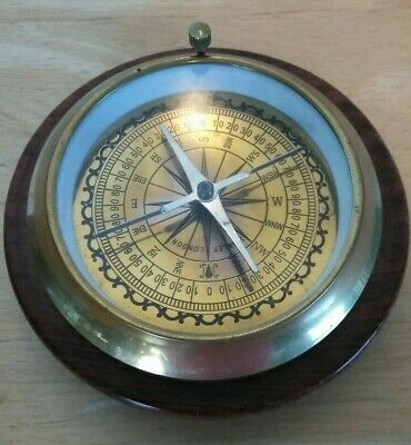 Nautical Brass Directional Compass For Desk / Office Stanley London