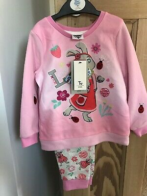 Lily Bobtail Pyjamas 2-3 Years New With Tags Peter Rabbit TU Pink Girls