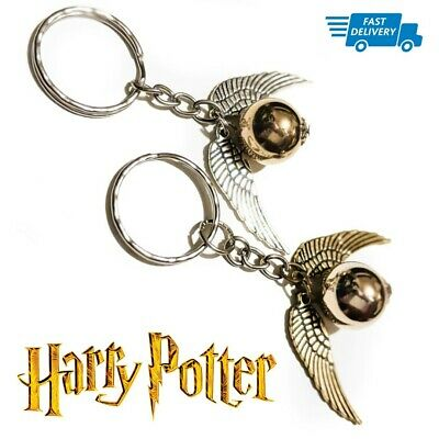 Harry Potter GOLDEN SNITCH Cheap Metal Quality Wings Keyring Bag Charm Keychain