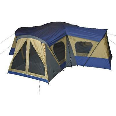 LARGE CAMPING TENT 14 Person With 4 Rooms Separate Exit