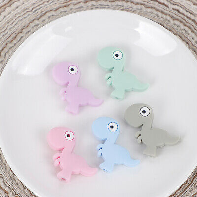 5xRabbits Silicone Beads Teething Teether BPA Free Necklace Making Chew Baby Toy