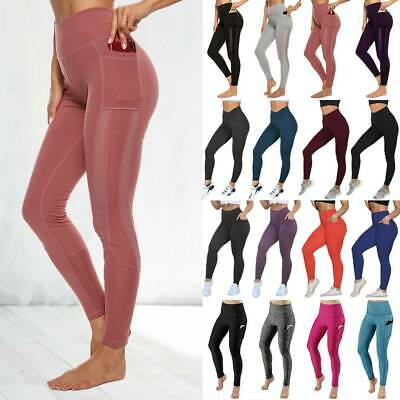 Women's High Waisted Yoga Pants Leggings Sports Printed Ftiness Gym Trousers A14