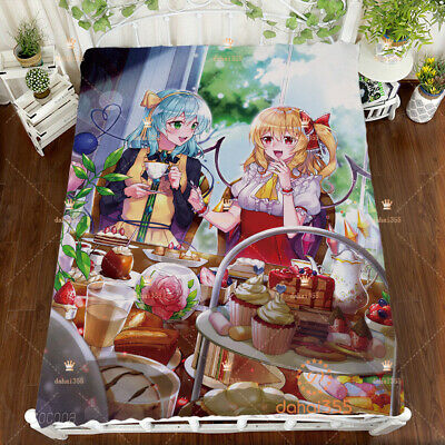 Anime TouHou Project Double Bed Bed Sheet Blanket Cover Bedding 150×200cm #T95