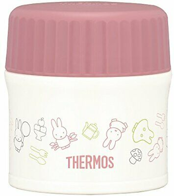 Thermos vacuum insulation food container Miffy 0.27L pink whi 62355 fromJAPAN