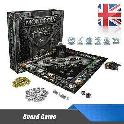 For Monopoly The Game of Thrones Board Game Adult Party Funny Cards Game UK Hot