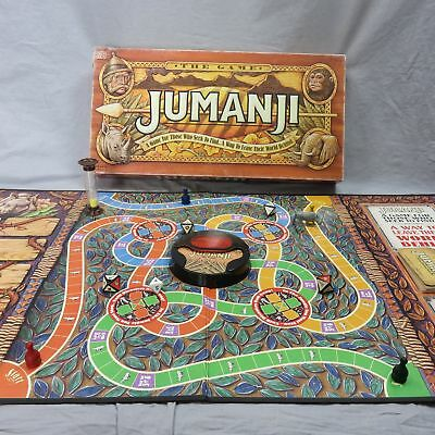 1995 Jumanji Tristar Pictures Robin Williams Movie Board Game Milton Bradley VTG