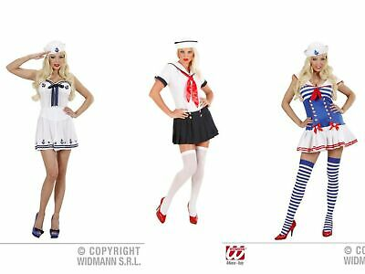 Ladies & Girls Sailor Girl Costume Outfit for Navy Sea Captain 40s Fancy Dress