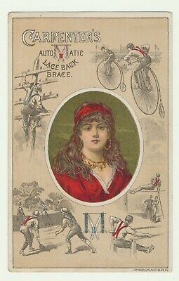 Trade Card for Carpenters Lace Back Brace (Suspenders) Female Influencer