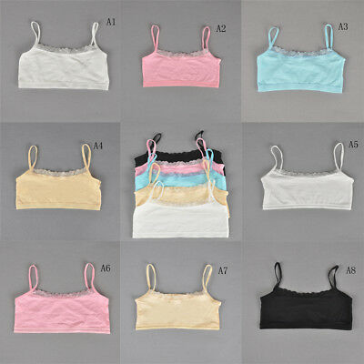 Teenage Underwear For Girls Cutton Lace Young Training Bra For Kids Clothing fc