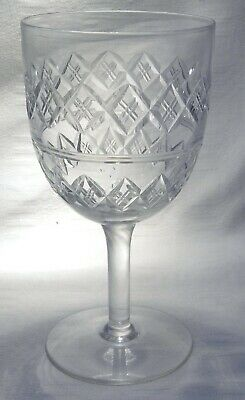 Art Deco Thomas Webb Crystal Large Wine / Water Goblet Glass Wet54..7 Available