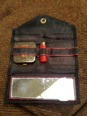 Rare 1930S Compact And Lipstick Flair Lanchere And Case