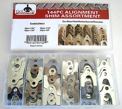 144pc GOLIATH INDUSTRIAL ALIGNMENT BODY SHIM ASSORTMENT CAMBER CASTER TOE STEEL