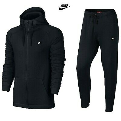Men's Nike Modern Tracksuit Set Full Zip Hoodie Joggers Bottoms Black S M L XL