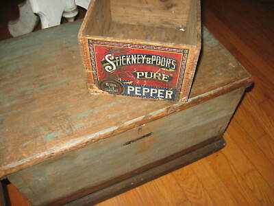 Fabulous Antique Country Store Box Best Lettering, Graphics  Aafa Nr