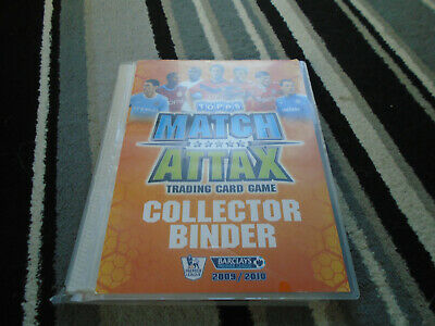 Topps Match Attax Trading Card Game Collectors Binder 2009-10 7/8 Complete