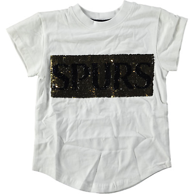Tottenham Hot Spurs Kids Size Age 3 to 4 White Changing Sequin Tee RRP £15