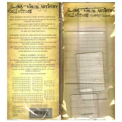 Tim Holtz Acrylic Grid Blocks - for both Rubber or Clear Stamps, 5 Sizes
