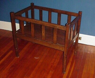 Antique Mission Style Oak Baby Crib Arts & Crafts period Bed *OHIO pick up only*