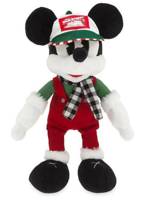 "Disney Parks 2019 Yuletide Farmhouse Holiday Mickey Mouse Plush Xmas 13"" NWT"
