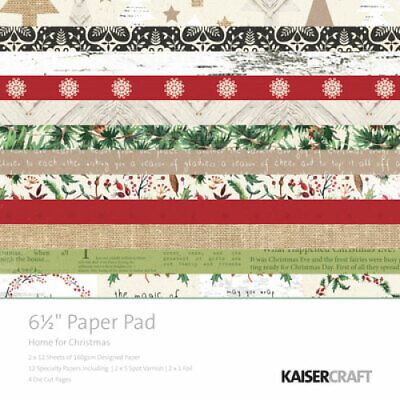 """KAISERCRAFT Scrapbooking Paper Pads - 6.5"""" - Home For Christmas - PP980"""