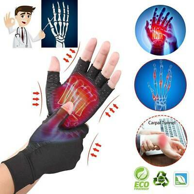 Compression Copper Arthritis Gloves Hand Support Pain Relief Healing Rheumatoid