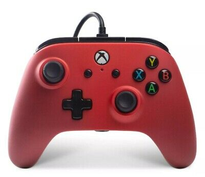 Power A Xbox One Enchance Wired Controller Crimson Red NEW FREE EXPRESS POST SAM